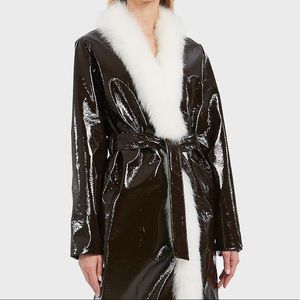 Luxury designer Attico brand new leather trench.
